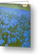 Scottish Art Greeting Cards - Bluebell Knoll Greeting Card by Malcolm Warrilow