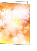 Magic Greeting Cards - Abstract background Greeting Card by Les Cunliffe