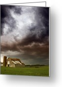 Tropical Golf Course Greeting Cards - Artsy Fartsy Barn Greeting Card by Michael Huddleston