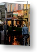 Scottish Art Greeting Cards - The Merchant City Greeting Card by Malcolm Warrilow