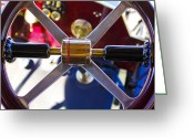 Twitter Greeting Cards - 1907 Panhard et Levassor Demi Toneau 38 HP Steering Wheel Greeting Card by Jill Reger
