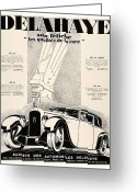 Panoramique Greeting Cards - 1928 - Delehaye Automobile Advertisement Greeting Card by John Madison