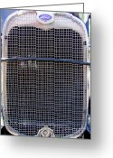 Mary Deal Greeting Cards - 1930 Ford Model A Grille Greeting Card by Mary Deal
