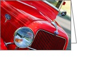 Ford V8 Greeting Cards - 1934 Ford V8 Grille - Emblem Greeting Card by Jill Reger