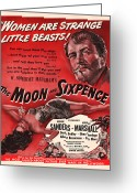 1942 Movies Greeting Cards - 1942 The Moon and Sixpence Motion Picture Poster Greeting Card by Carter Jones