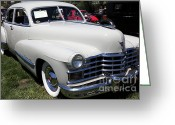 1947 Cadillac Greeting Cards - 1947 Cadillac Series 62 Sedan 5D22821 Greeting Card by Wingsdomain Art and Photography
