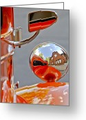 Car Detail Greeting Cards - 1948 Anglia Rearview Mirror Greeting Card by Jill Reger