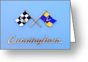 1952 Greeting Cards - 1952 Cunningham C-3 Vignale Cabriolet Emblem Greeting Card by Jill Reger