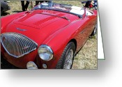 Austin Healey Photo Greeting Cards - 1956 Austin Healey 100 M Le Mans Convertible 5D23395 Greeting Card by Wingsdomain Art and Photography