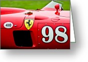 Twitter Greeting Cards - 1956 Ferrari 410 Sport Scaglietti Spyder Greeting Card by Jill Reger