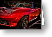 Mascots Greeting Cards - 1963 Chevy Corvette Greeting Card by David Patterson