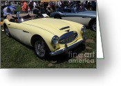 Austin Healey Photo Greeting Cards - 1964 Austin Healey 3000 BJ7 Convertible 5D23193 Greeting Card by Wingsdomain Art and Photography