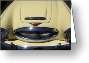 Austin Healey Photo Greeting Cards - 1964 Austin Healey 3000 BJ7 Convertible 5D23197 Greeting Card by Wingsdomain Art and Photography