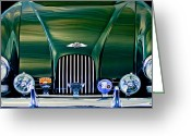 Morgan Greeting Cards - 1964 Morgan Plus 4 Coupe Greeting Card by Jill Reger