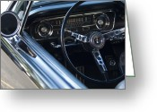 Ford Mustang Greeting Cards - 1965 Shelby prototype Ford Mustang Steering Wheel 2 Greeting Card by Jill Reger