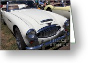 Austin Healey Photo Greeting Cards - 1966 Austin Healey 3000 BJ8 Convertible 5D23186 Greeting Card by Wingsdomain Art and Photography