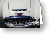 Austin Healey Photo Greeting Cards - 1966 Austin Healey 3000 BJ8 Convertible 5D23187 Greeting Card by Wingsdomain Art and Photography