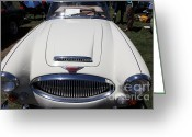 Austin Healey Photo Greeting Cards - 1966 Austin Healey 3000 BJ8 Convertible 5D23190 Greeting Card by Wingsdomain Art and Photography