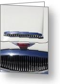 Austin Healey Photo Greeting Cards - 1966 Austin Healey 3000 BJ8 Convertible 5D23191 Greeting Card by Wingsdomain Art and Photography