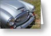 Austin Healey Photo Greeting Cards - 1966 Austin Healey 3000 BJ8 Convertible 5D23201 Greeting Card by Wingsdomain Art and Photography