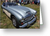 Austin Healey Photo Greeting Cards - 1966 Austin Healey 3000 BJ8 Convertible 5D23202 Greeting Card by Wingsdomain Art and Photography