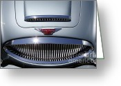 Austin Healey Photo Greeting Cards - 1966 Austin Healey 3000 BJ8 Convertible 5D23204 Greeting Card by Wingsdomain Art and Photography