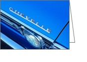 Chevrolet Chevelle Greeting Cards - 1967 Chevrolet Chevelle Hood Emblem Greeting Card by Jill Reger