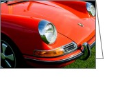 Porsche 911 Greeting Cards - 1968 Porsche 911 Front End Greeting Card by Jill Reger
