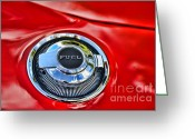 Super Car Greeting Cards - 1969 Charger Fuel Cap Greeting Card by Paul Ward