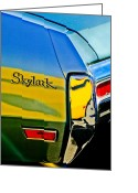 American Vintage Greeting Cards - 1970 Buick Skylark Taillight Emblem Greeting Card by Jill Reger