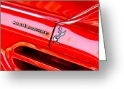 American Vintage Greeting Cards - 1970 Plymouth Superbird Road Runner Emblem Greeting Card by Jill Reger