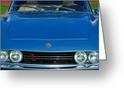 Classic Fiat Greeting Cards - 1971 Fiat Dino 2.4 Grille Greeting Card by Jill Reger