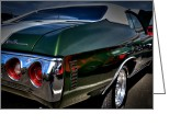 Chevrolet Chevelle Greeting Cards - 1972 Chevrolet Chevelle Greeting Card by David Patterson
