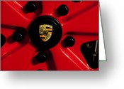 Porsche 911 Greeting Cards - 1973 Porsche 911 RS Wheel Emblem Greeting Card by Jill Reger