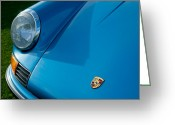 Porsche 911 Greeting Cards - 1973 Porsche 911 S Hood Emblem Greeting Card by Jill Reger