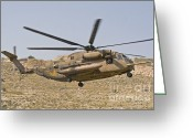 Featured Greeting Cards - A Ch-53 Yasur 2000 Of The Israeli Air Greeting Card by Ofer Zidon