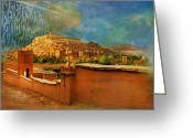 Formerly Greeting Cards - Ait Benhaddou  Greeting Card by Catf