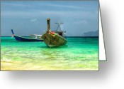 Thailand Greeting Cards - All Aboard Greeting Card by Adrian Evans