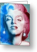 Marylin Greeting Cards - American Girl Greeting Card by Luis  Navarro