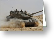 M60 Tank Greeting Cards - An Israel Defense Force Magach 7 Main Greeting Card by Ofer Zidon