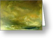 Julianne Felton Greeting Cards - Atmospheric Seascape  Greeting Card by Julianne Felton
