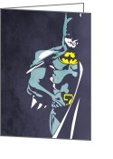 Wonder Woman Greeting Cards - Batman  Greeting Card by Mark Ashkenazi