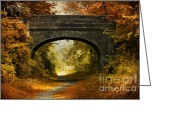 Shade Greeting Cards - Bridge Greeting Card by Svetlana Sewell