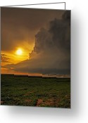 Hail Photo Greeting Cards - Bright Meso Greeting Card by Zach  Roberts