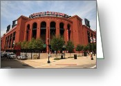 Baseball Game Greeting Cards - Busch Stadium - St. Louis Cardinals Greeting Card by Frank Romeo