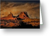 Storm Prints Greeting Cards - Camelback Greeting Card by Robert Albrecht