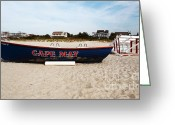 Cape May Nj Photo Greeting Cards - Cape May Beach Greeting Card by John Rizzuto