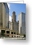 Club Greeting Cards - Classic Chicago -  The Jewelers Building Greeting Card by Christine Till