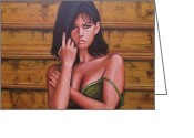 Italian Cinema Greeting Cards - Claudia Cardinale Greeting Card by Paul Meijering