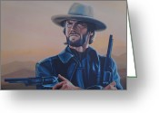 Alcatraz Greeting Cards - Clint Eastwood  Greeting Card by Paul Meijering